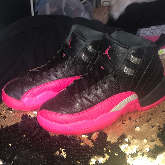 3c9b6c47b10 Jordan Shoes | Black And Pink Retro 12s | Poshmark